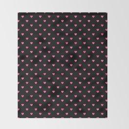 Pink Pop Petit Hearts Pattern Throw Blanket