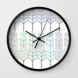 Featherpastelrainbowed Wall Clock