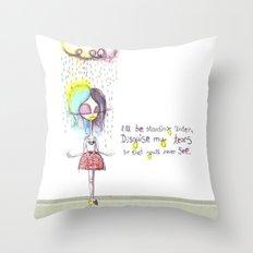 Rain on me... Throw Pillow