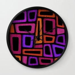 Palm Springs Nights - Modern Tiki Wall Clock