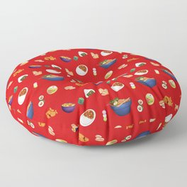 Japanese Food Collection Floor Pillow