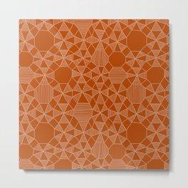 Abstract Minimalism on Orange Metal Print