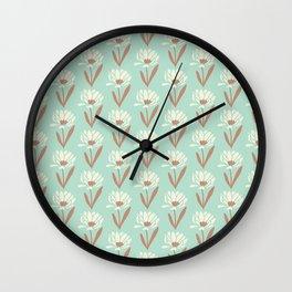 Silvestre flower field Wall Clock