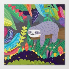 Sloth in nature Canvas Print