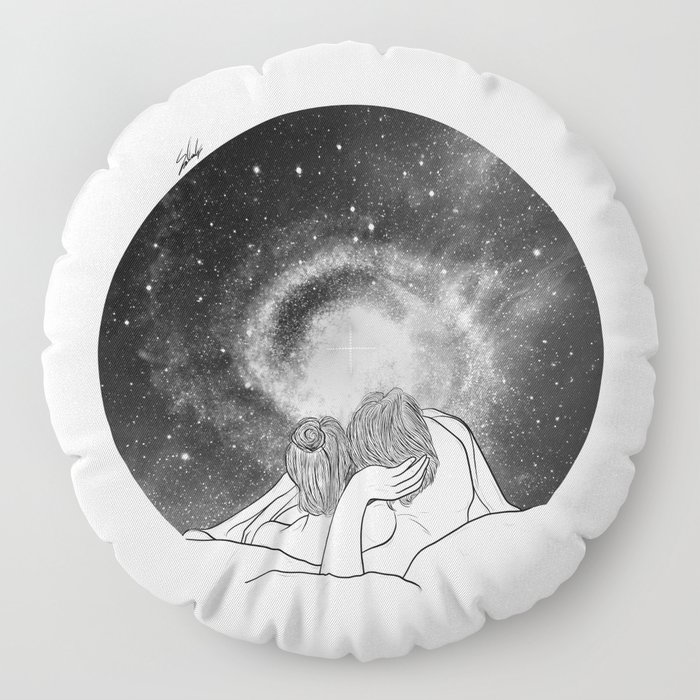 Our imaginary night. Floor Pillow