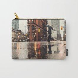 RAIN - WET - MAN - LIGHT - STREET - PHOTOGRAPHY Carry-All Pouch