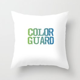 Spinning 6 Ft of Attitude Color Guard Pride T-Shirt Throw Pillow