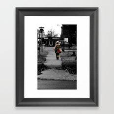 Woman Walking Framed Art Print