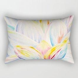 Rainbow Lotus Rectangular Pillow