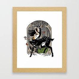 Dance of the Deer Framed Art Print