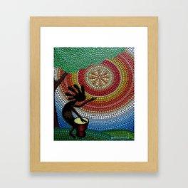 Kokopelli. God of fun and fertility Framed Art Print