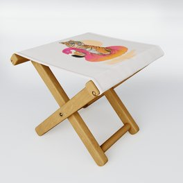 Chillin (Flamingo Tiger) Folding Stool