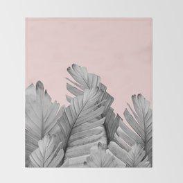 Blush Banana Leaves Dream #2 #tropical #decor #art #society6 Throw Blanket