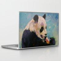 ice cream Laptop & iPad Skins featuring Ice Cream by Michael Creese