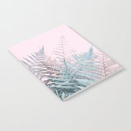 Duotone Fern Jungle on Soft Pink Notebook