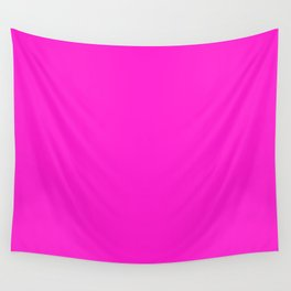 From The Crayon Box – Hot Magenta - Bright Neon Pink Purple Solid Color Wall Tapestry