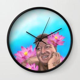 Delicate Flower Wall Clock
