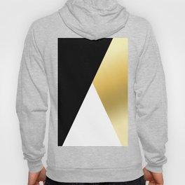 Elegant gold and black geometric design Hoody