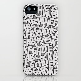 Learn the alfabet iPhone Case