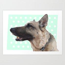 Lucy German shepherd Art Print