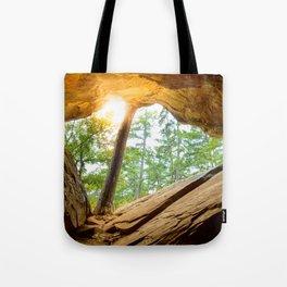 Sunshine in a Dark Cave Tote Bag