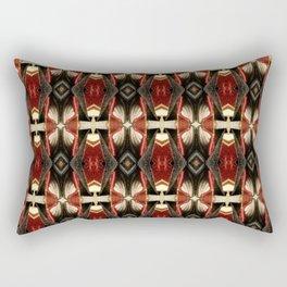 Rich Burgundy Striped Pattern A448b Rectangular Pillow