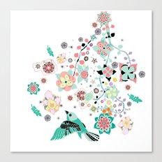 Soleil flora Canvas Print