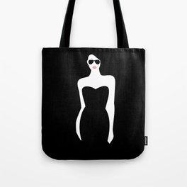 Black Dress Tote Bag