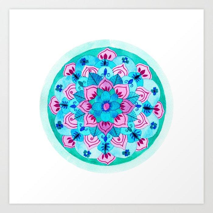 Balanced Growth Mandala Art Print