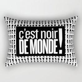 Noir de monde Rectangular Pillow