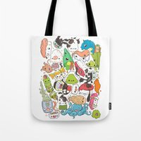 nori Tote Bags featuring Sushi Bar: Point of Nori-turn by ieIndigoEast