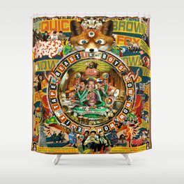 Beastie Boys Wow! Wow! Wow! Remix Tape Cover Shower Curtain