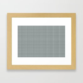 Plaid Dark Green Inspired by PPG Glidden Trending Colors of 2019 Night Watch PPG1145-7 Framed Art Print