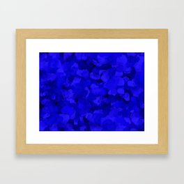 Rich Cobalt Blue Abstract Framed Art Print