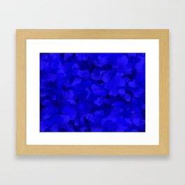 Rich Cobalt Blue Abstract Framed Art Print