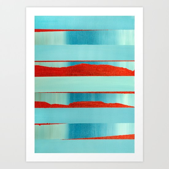 Blue Edge Art Print