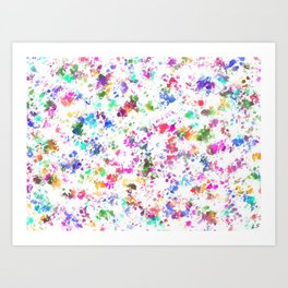 Expression of color Art Print