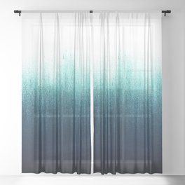Teal Ombré Sheer Curtain