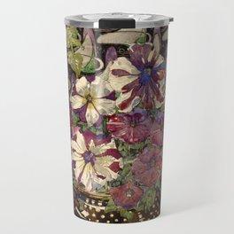 "Charles Rennie Mackintosh ""Petunias"" Travel Mug"