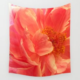 Coral paeonia Wall Tapestry