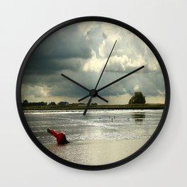River Scene Wall Clock