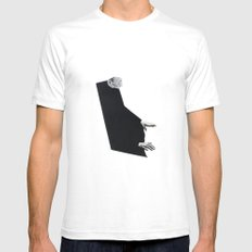 Figure Study - Him White Mens Fitted Tee SMALL