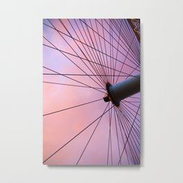 Lavender Sky and Wheel Metal Print