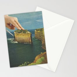 Serving up cake by the seaside Stationery Cards