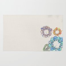 Water-colour Flowers Rug