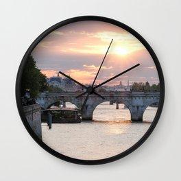 Sunset in Paris Wall Clock