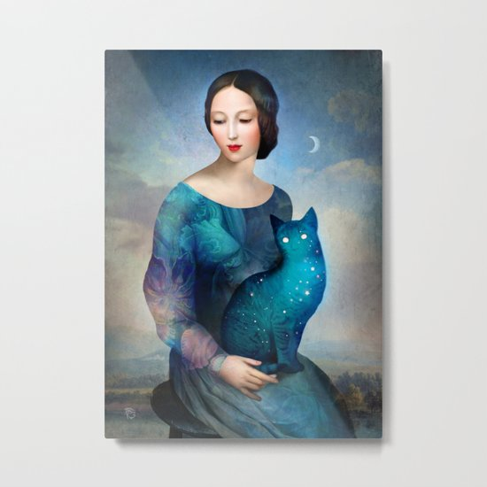 Night Cat Metal Print
