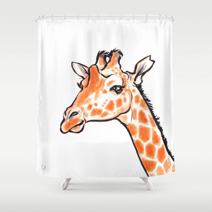 Kipawa the Giraffe Shower Curtain