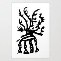 elk Art Prints featuring Elk by k_c_s