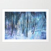 Winter Moonlight Art Print